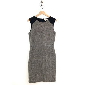 Banana Republic Tweed Sheath Midi Dress 8 Tall